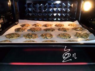 芝麻薄脆饼干,烤箱提前预热160度10分钟,饼干生坯入烤箱,160度烤15-20分钟