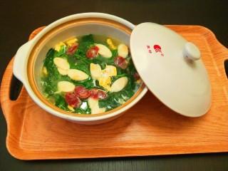 芙蓉鲜蔬汤,成品图