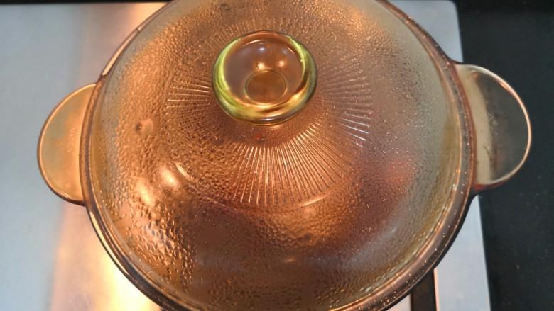 鸡蛋醪糟汤,煮开后,焖5分钟