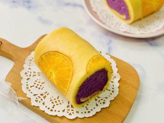 甜橙蛋糕卷,成品图
