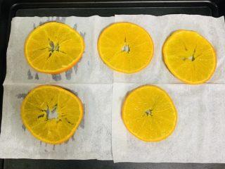 甜橙蛋糕卷,将煮好的橙子放在厨房用纸上吸去多余的水分,这一步不能省略。不然后面成品蛋糕与橙子会分离。