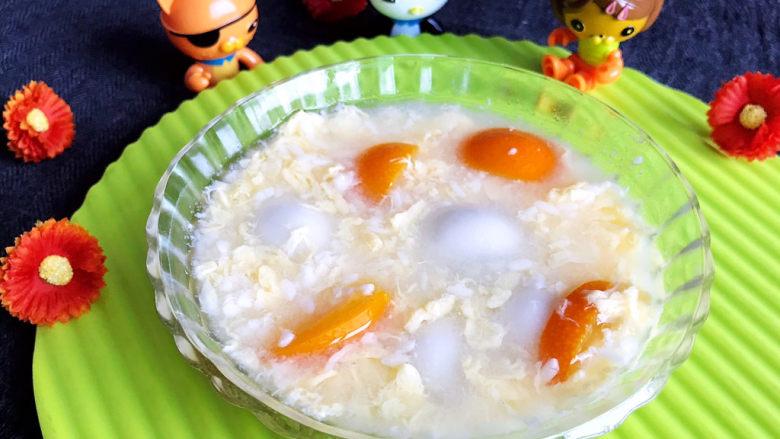 鸡蛋醪糟汤,鸡蛋醪糟汤出锅了~
