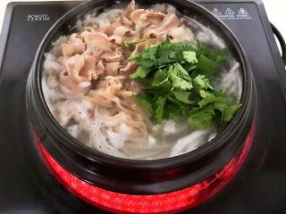 白萝卜羊肉汤,加入香菜