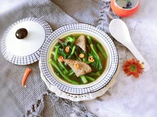 豬肝菠菜湯,出鍋啦  香噴噴的