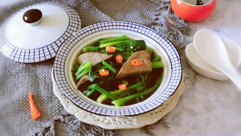 豬肝菠菜湯