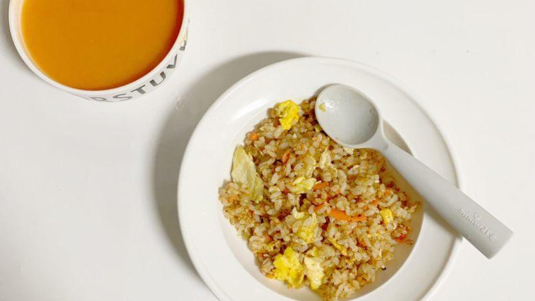 1周宝宝辅食:牛肉碎蛋炒饭