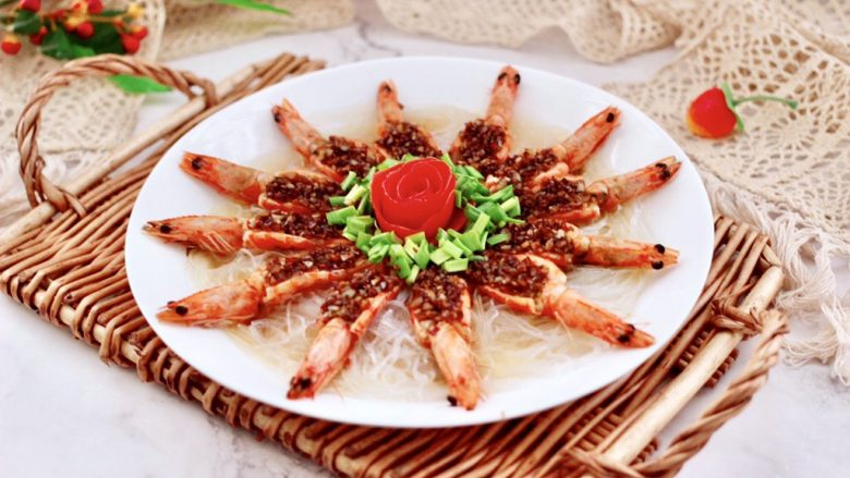 金蒜粉丝蒸海虾