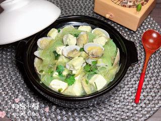 花蛤豆腐汤,再来一张成品图。
