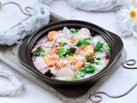 海虾皮蛋萝卜粥