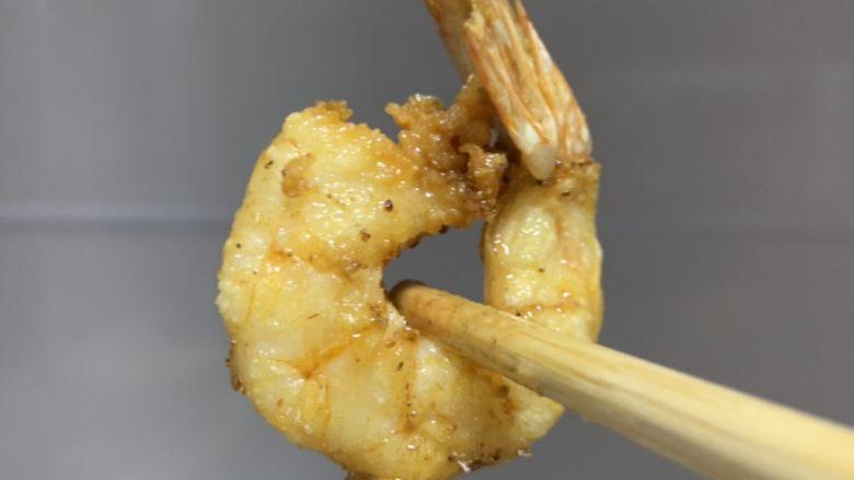 金丝凤尾虾,出锅备用