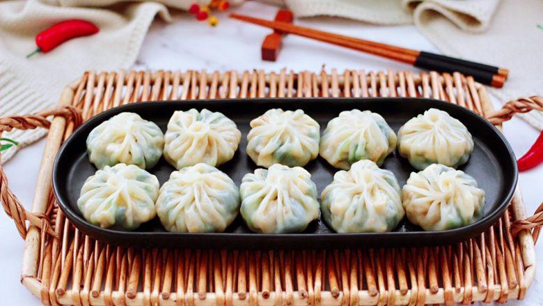 萝卜樱海鲜豆腐蒸饺,成品一