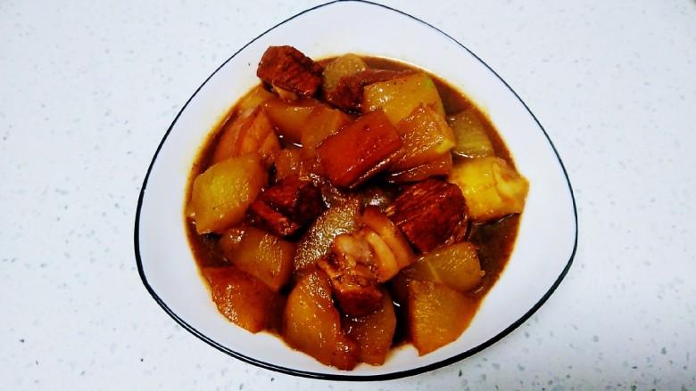 红烧肉炖冬瓜