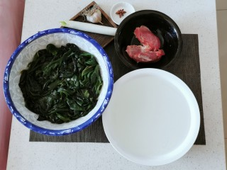 韩国海带汤,食材准备好