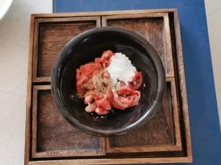 韩国海带汤,放入淀粉 胡椒粉 半汤匙生抽