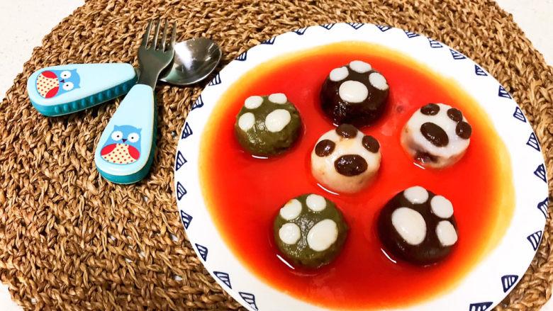 冬至美食  茄汁三味猫爪汤圆