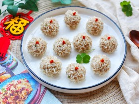冬至美食 清香可口的珍珠藕丸