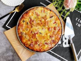 冬至美食 培根蘑菇披萨