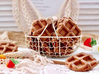 冬至美食~咖啡红薯华夫饼
