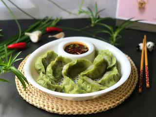 冬至美食 韭菜鸡蛋粉条双色水饺