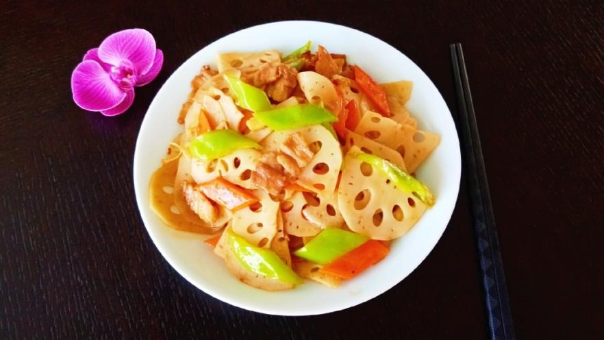 莲藕炒肉片