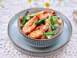 蘑菇海虾汤,成品一