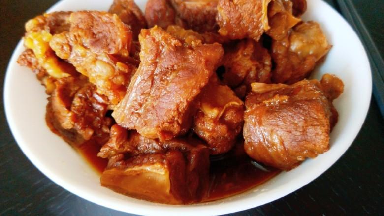 五香酱牛肉,成出来直接吃了。