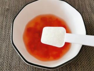 酸辣萝卜条,放入白糖