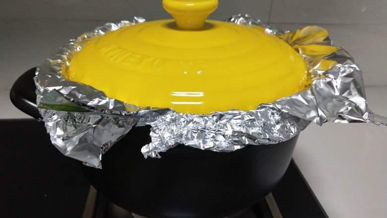 砂锅版烤鸡翅,盖盖,开火烤。