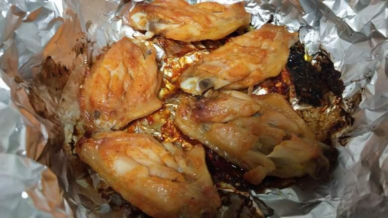 砂锅版烤鸡翅,成品。