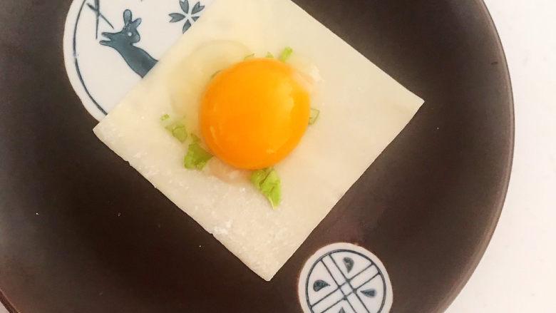 蛋黄派,加入鸡蛋黄