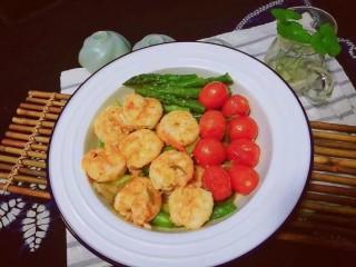 过年清新菜,芦笋龙井虾