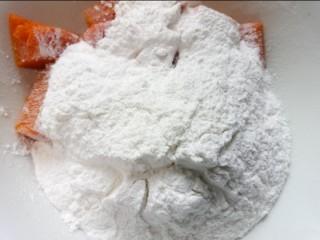南瓜芝麻球,加入适量糯米粉