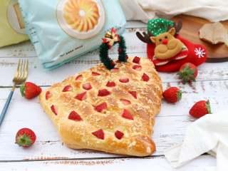 草莓酥粒面包