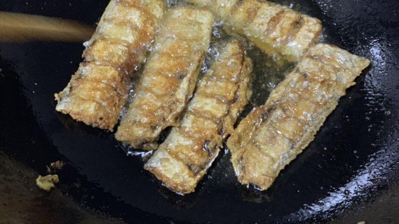 炸酥带鱼,两面金黄
