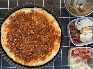 披萨🍕,抹均匀