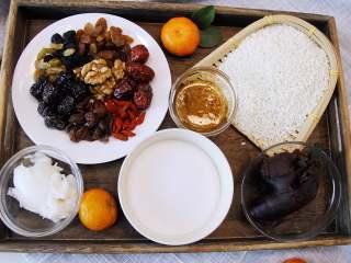 香糯可口八宝饭, 准备好所需的材料。