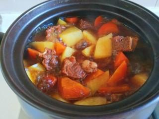 土豆牛腩煲,成品图