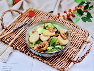 青菜炒香菇,成品一