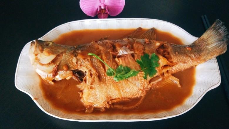 酱焖黄花鱼,成品图