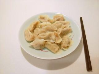 香菇虾仁饺子,成品图