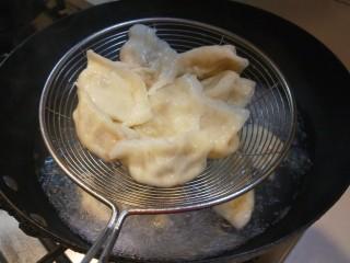 羊肉胡萝卜水饺,出锅的饺子好吃。