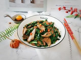 韭菜炒豬肝