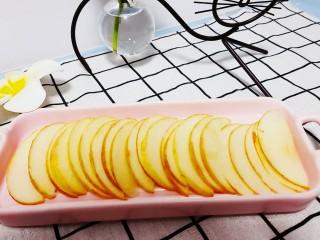玫瑰苹果饼,再切成薄片