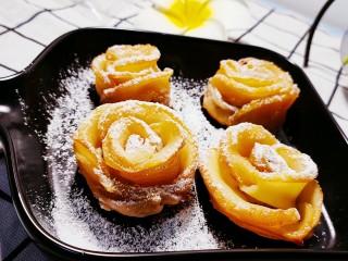 玫瑰苹果饼,撒上糖粉即可