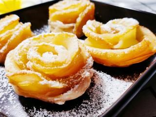 玫瑰苹果饼,美味的玫瑰苹果饼就好了