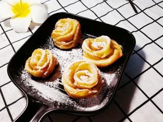 玫瑰苹果饼,成品图