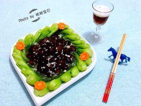 青菜炒香菇