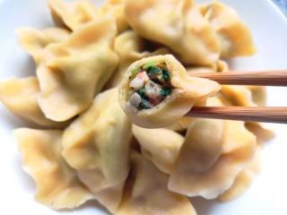 香菇虾仁饺子,咬一口,可以看见虾仁哦!