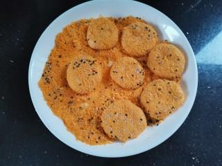 脆皮南瓜饼,裹上面包糠