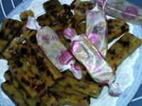 蔓越莓牛奶糖,用糖纸包装,